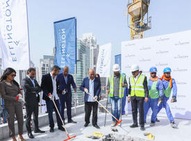 Ellington celebrates topping out of DT1 residential tower