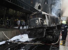 Fiery crash at Cairo train station kills 20