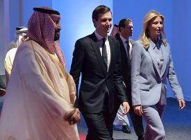 White House advisor Jared Kushner discusses Middle East peace with Saudi rulers