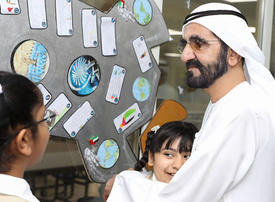 In pictures: Ruler of Dubai visits educational institutions in Fujairah and Kalbaa