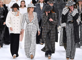 In pictures: Classy tribute to Karl Lagerfeld at his final Chanel show in Paris