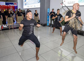 Video: Etihad Airways and Abu Dhabi welcome Team New Zealand to the World Games