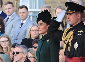 In pictures: British royal couple attend St Patrick's Day parade