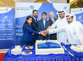 Abu Dhabi Int'l welcomes first flight by Himalaya Airlines