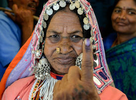 In pictures: Voting begins in the world's biggest election - Indians head to the polls