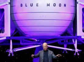 Amazon's Bezos unveils lunar lander project Blue Moon