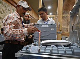 Gallery: Counting begins in India's mega-election