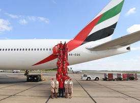 Gallery: Emirates airline flies Arsenal FC team to Los Angeles for their pre-season trip