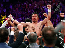 Brilliant Pacquiao downs Thurman to capture WBA crown