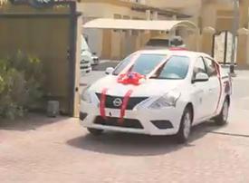 Dubai Police awards brand new car to good driver
