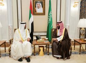 Abu Dhabi crown prince urges Yemen talks on Saudi visit