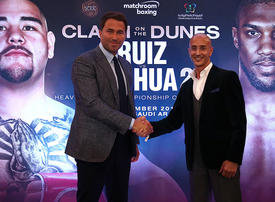Joshua v Ruiz Jr fight in Saudi Arabia 'could change boxing forever', says Eddie Hearn