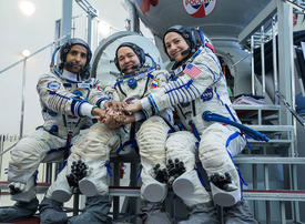 Gallery: Rocket blasts off carrying first Emirati to ISS