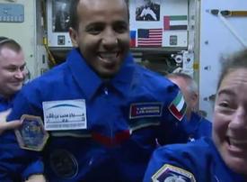 UAE astronaut Hazzaa Ali Almansoori on board International Space Station