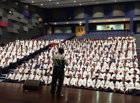 Dubai Police deliver strong road safety message to school bus drivers