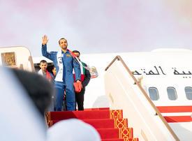 In pictures: UAE astronaut Hazzaa Al Mansoori returns home