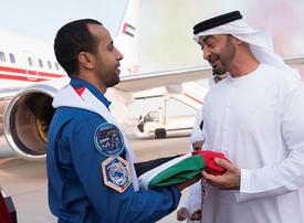 UAE astronaut Hazzaa al-Mansoori returns home to hero's welcome