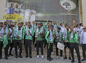 Saudi Arabia's national football team makes first West Bank visit