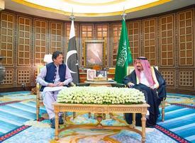 Pakistani Prime Minister Imran Khan in Riyadh after Tehran visit