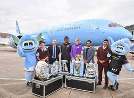In pictures: Etihad unveils Man City livery on brand new 787 Dreamliner