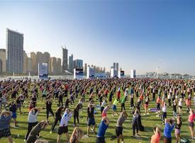 Instagram star Joe Wicks leads thousands in Dubai fitness session