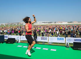 In pictures: Thousands of participants attend Joe Wicks HIIT class in Dubai