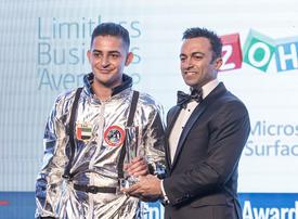 Chaker Khazaal dedicates award to Emirati astronaut Hazza Al Mansouri and Lebanese protesters