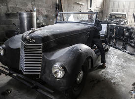 Palestinian man wheels and deals to restore classic cars