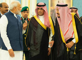 In pictures: Narendra Modi meets Saudi King and Crown Prince