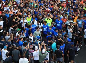 70,000 join Sheikh Hamdan as Dubai's main highway becomes running track