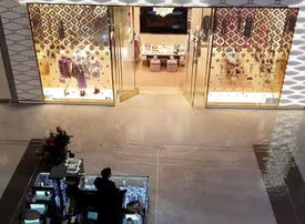 Heavy rain causes flooding at Dubai Mall
