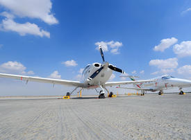 In pictures: Emirates Flight Training Academy displays training aircraft at Dubai Airshow 2019