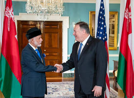 Oman's top diplomat visits Iran after US trip