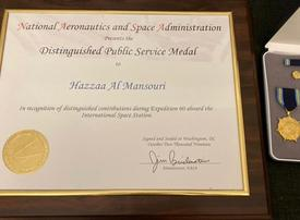 Emirati astronaut wins Distinguished Public Service Medal from NASA