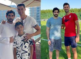 Ronaldo and Djokavic share Instagram snaps with Sheikh Hamdan