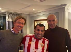 In pictures: Saudi entertainment chief Turki Al-Sheikh meets Zinedine Zidane