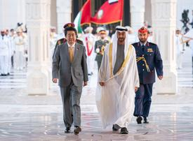 In pictures: Japan's Prime Minister Shinzo Abe meets Crown Prince of Abu Dhabi