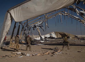 Video: Inside a US air base attacked by Iranian missiles