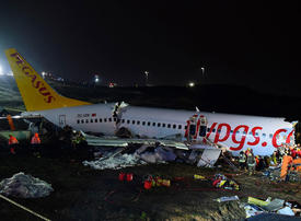 Three dead, scores hurt after plane skids off runway at Istanbul airport