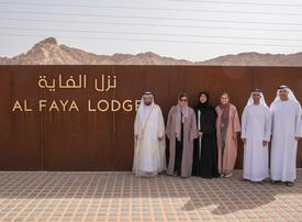 In pictures: Sultan Al Qasimi visits Sharjah's eco-retreat Al Faya Lodge and Al Badayer Oasis