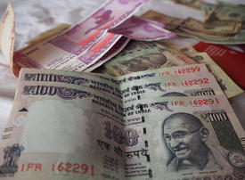 Indian rupee falls against the UAE dirham on slowdown fears