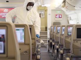 Emirates airline increases cleaning measures to combat coronavirus spread