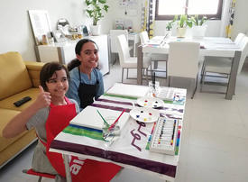 In pictures: ArtistPals hosted a virtual painting party