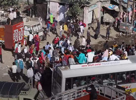 Video: India's poor flee cities in mass exodus during coronavirus lockdown