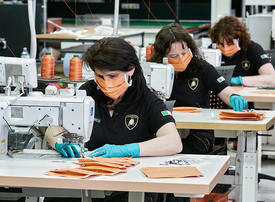 In pictures: Lamborghini starts production of surgical masks and medical shields