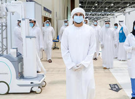 In pictures: Dubai Crown Prince visits Covid-19 field hospital in DWTC