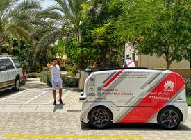 Self-driving car delivers medical supplies in Sharjah