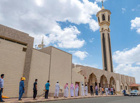 In pictures: Muslim worshippers perform first Friday prayer across Saudi mosques