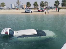 Dubai Police save woman who accidentally drove car into creek