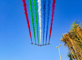 In pictures: Al Fursan aerobatic performed stunning display over UAE hospitals